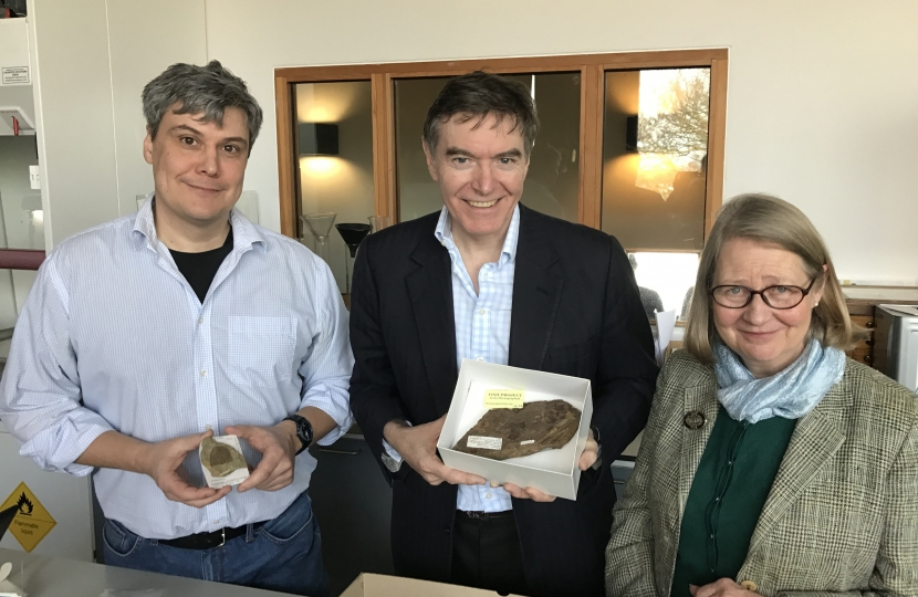Philip Dunne with Daniel Lockett and Lottie James