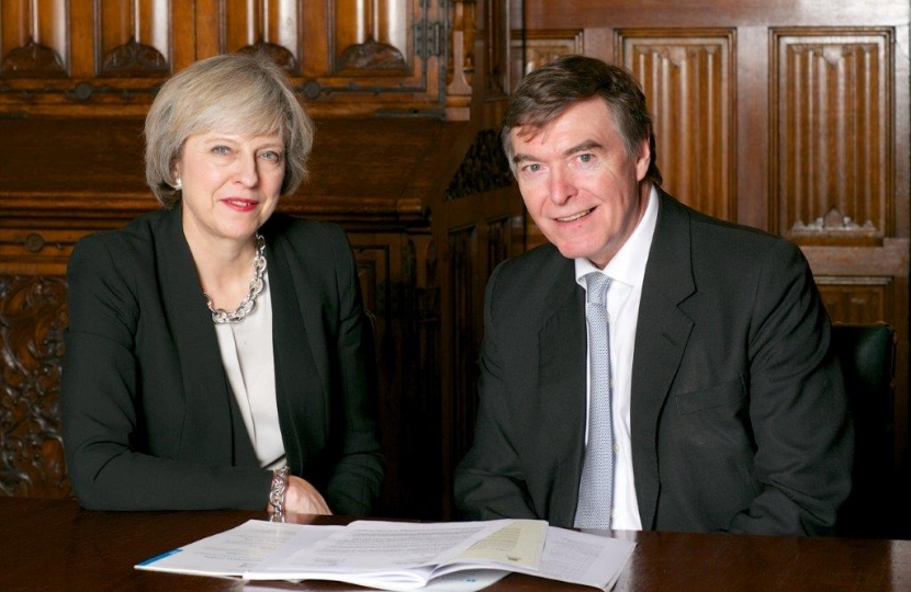 PM Theresa May with Philip Dunne MP