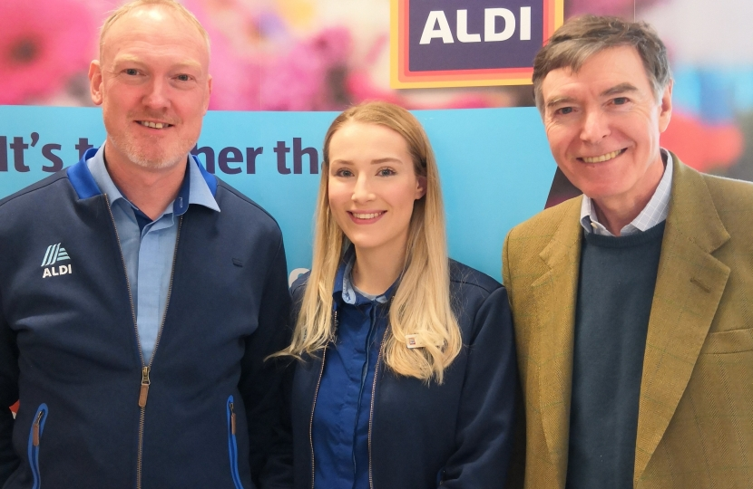 Philip Dunne with Lisa Appleby and Richard Turner from Aldi.jpg