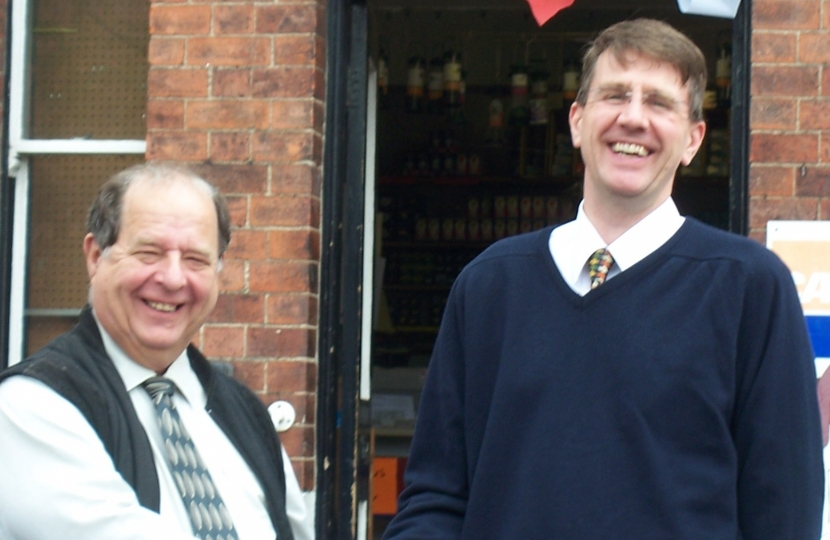 Conservative Candidate, Lee Chapman with Cllr David Evans