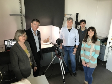 Philip Dunne with Conservators