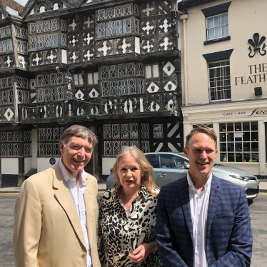 Philip Dunne MP with Sarah Punnadine, Group Sales Manager and Jason Highley, Group Operations Director, Crest Hotels